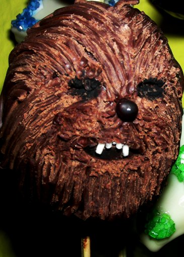 Star-Wars Cake-Pops: Chewbacca