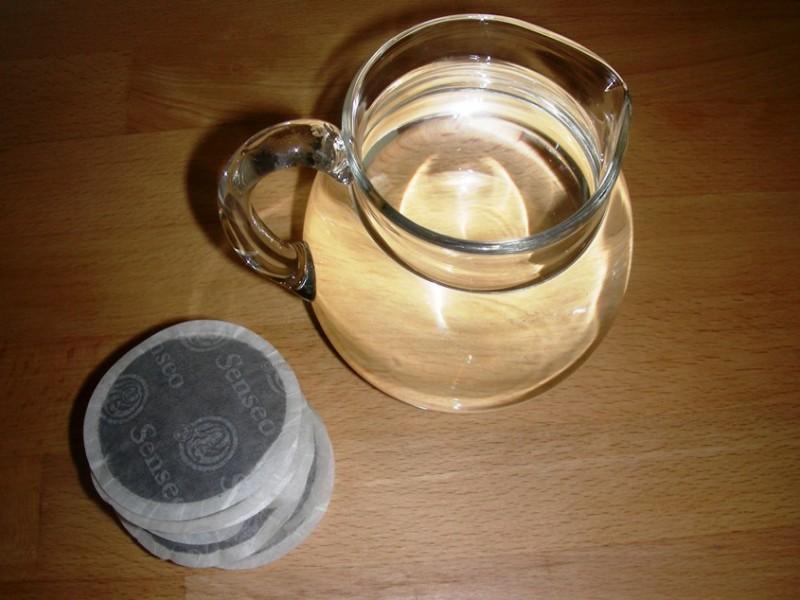 Wasser Kaffeepads
