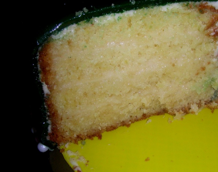 Zitronenkuchen unten
