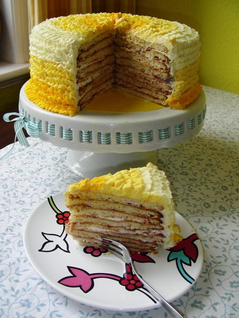 Milchmädchen-Torte Anschnitt