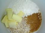 Butter Zucker Haferflocken Mehl