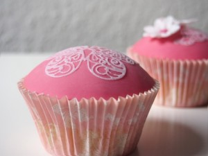 perfekt gewölbter Cupcake