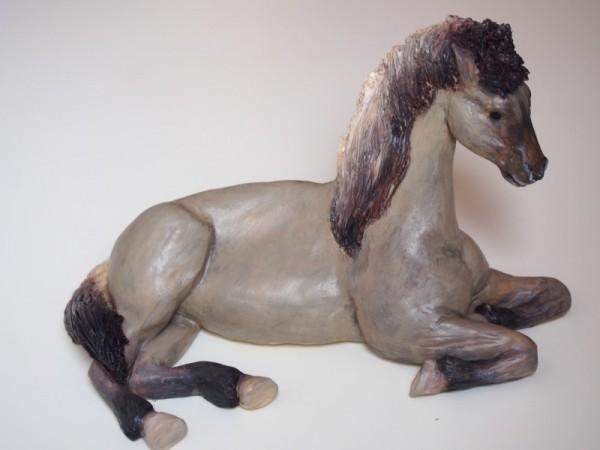 Pferd bemalt