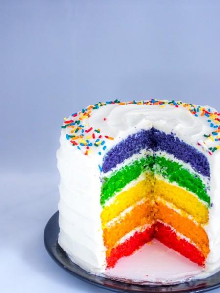 Regenbogenkuchen Regenbogentorte Ein Videorezept