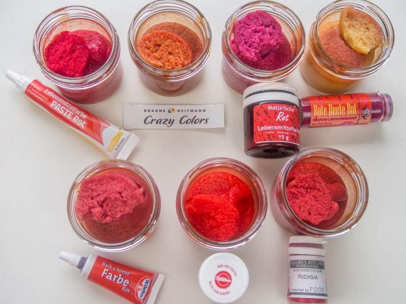 Bunter kuchen ohne lebensmittelfarbe
