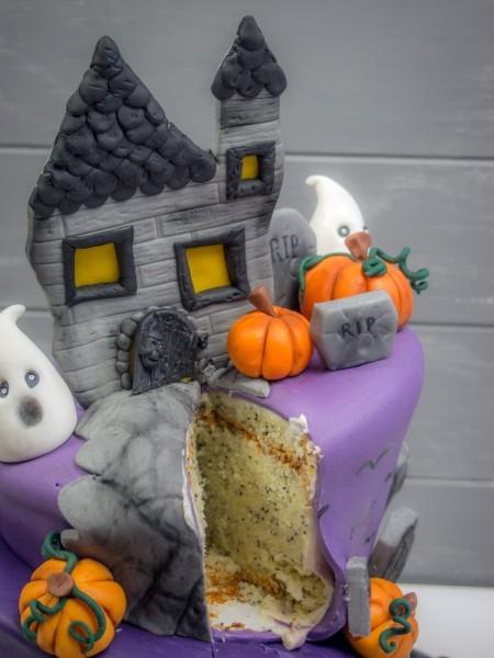Halloween Torte Anschnitt