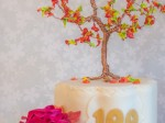 Drahtbaum: herbstlicher Cake Topper mit Royal Icing {Video}