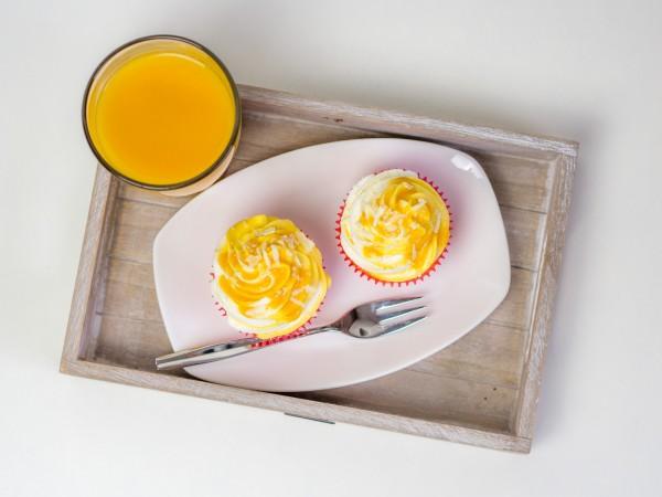 Vanille-Pfirsich-Cupcakes