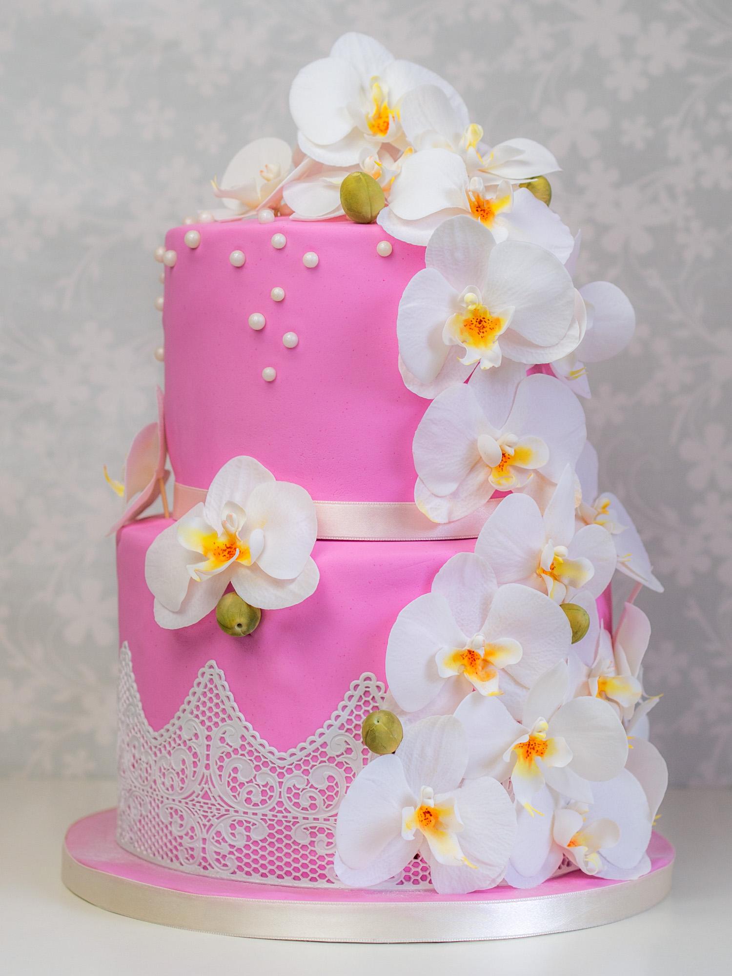 Orchideen torte