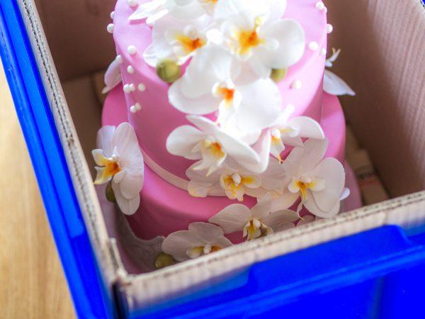 Torte transportieren