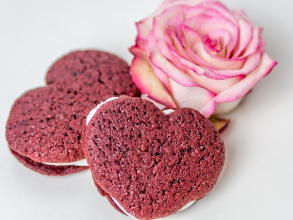 Red Velvet Whoopie Pie Herzen