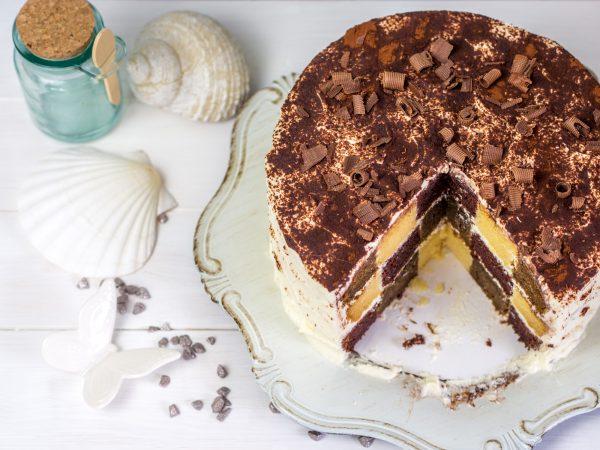 Schachbrett Tiramisu Torte