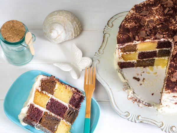 Schachbrett Tiramisu Torte-46