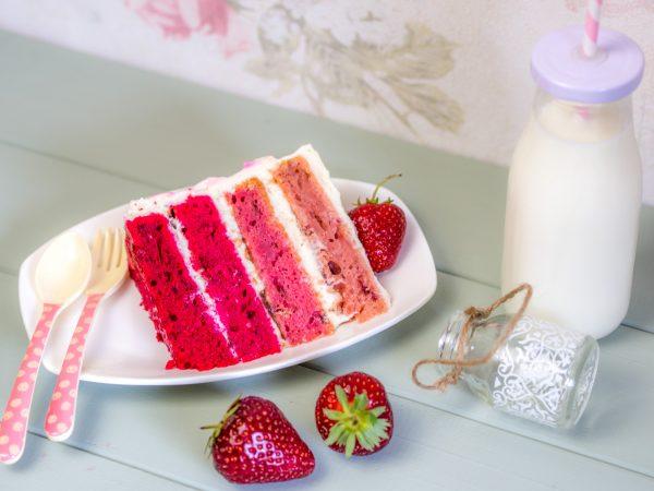 Strawberry Ombre Cake
