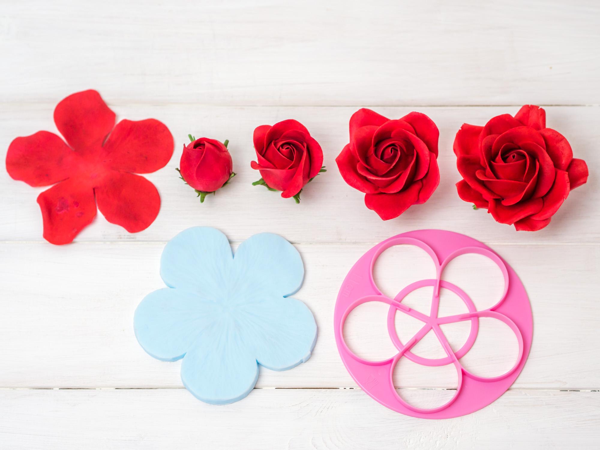 anleitung f r eine rose aus bl tenpaste 5 petal technik. Black Bedroom Furniture Sets. Home Design Ideas