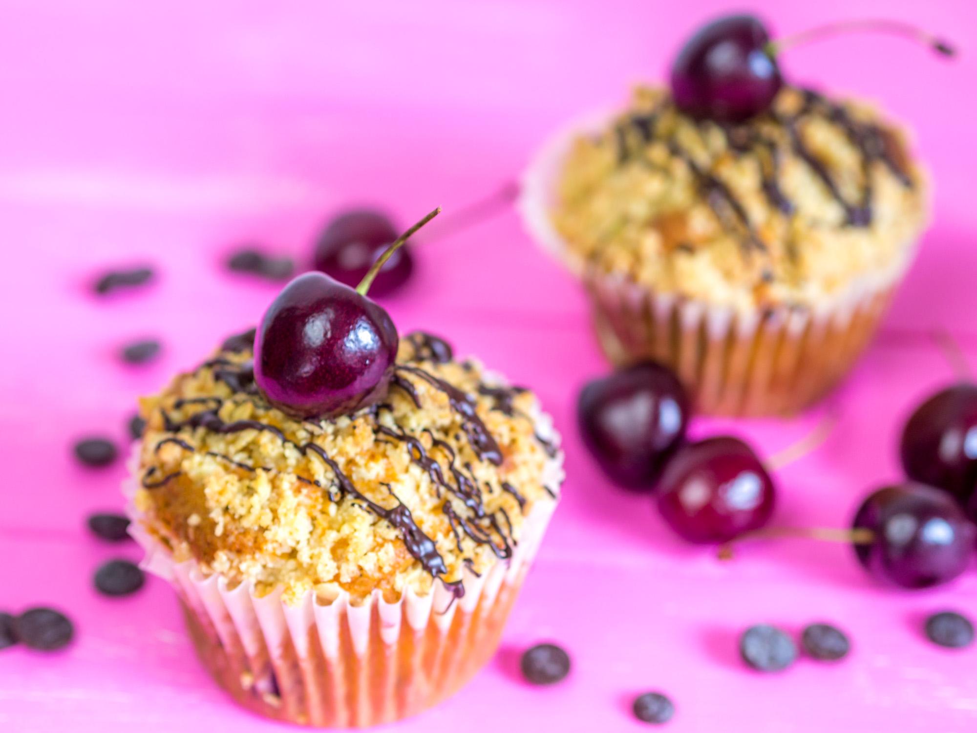Rezept Saftige Schoko Kirsch Muffins Mit Streuseln