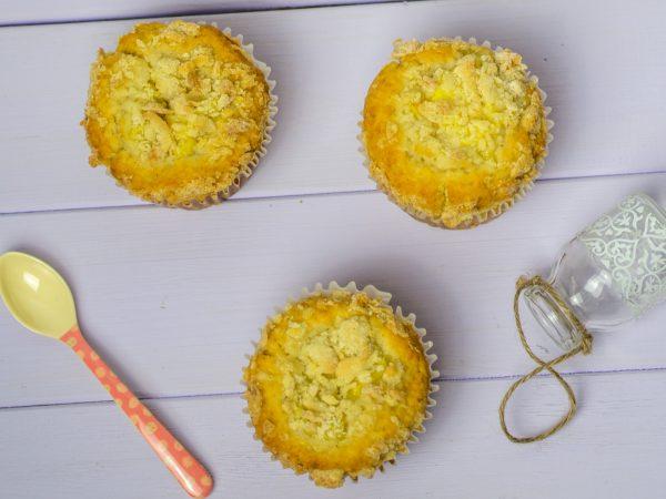Vanillemuffins mit Pudding