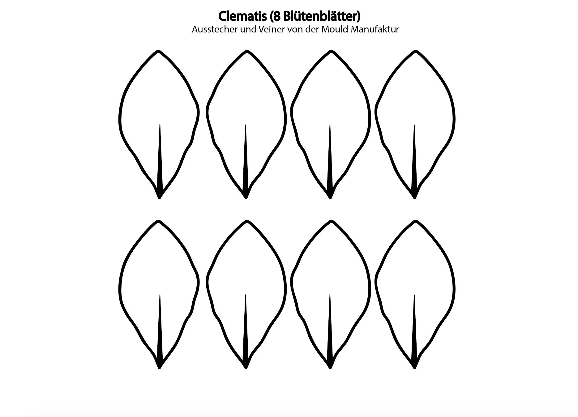 Clematis aus Blütenpaste - ein ausführliches Video-Tutorial