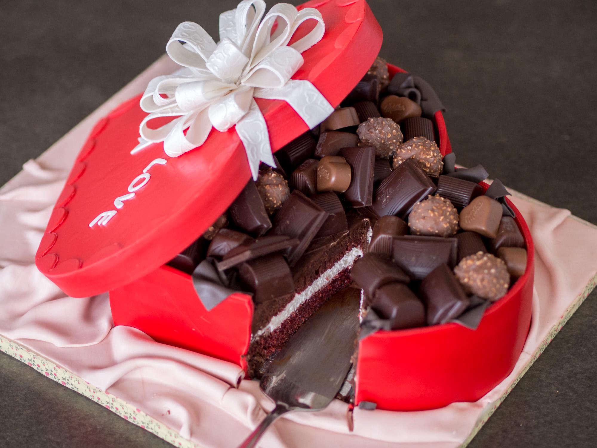 Pralinenschachtel Torte Zum Muttertag Oder Valentinstag