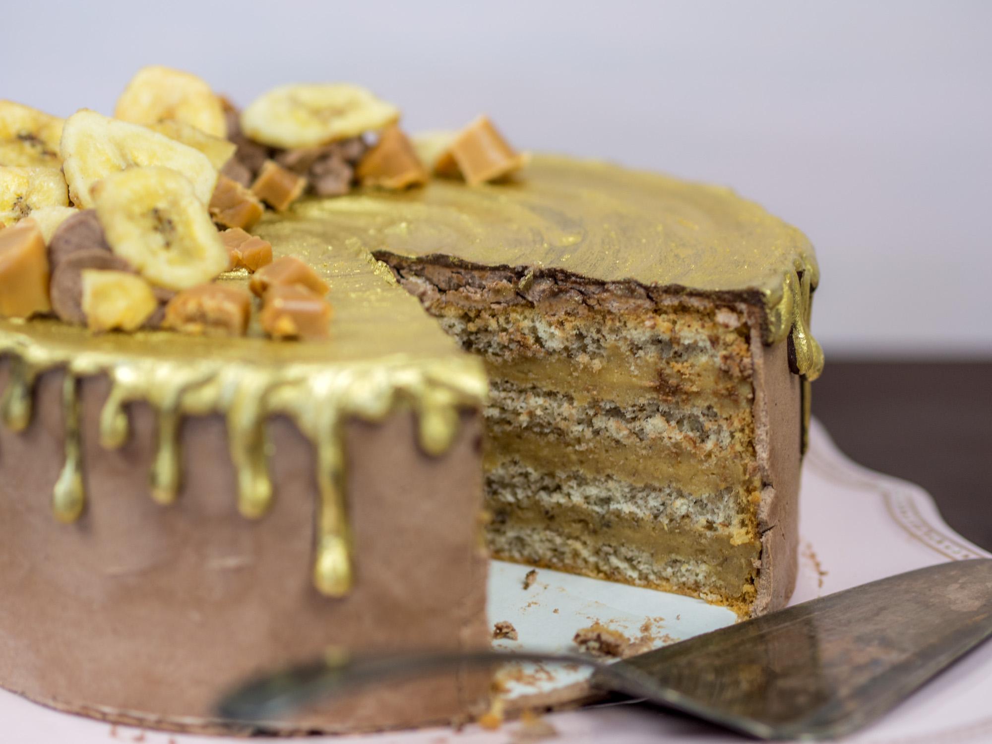 Golden Banoffe Cake