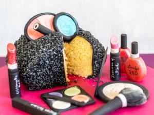 Make Up Täschen – Anleitung einfache Taschen-Torte