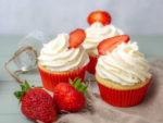 Erdbeer-Cupcakes Erdbeercupcakes Erdbeermuffins Erdbeer Rezept