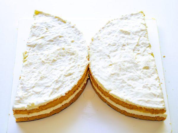 halbierte Torte