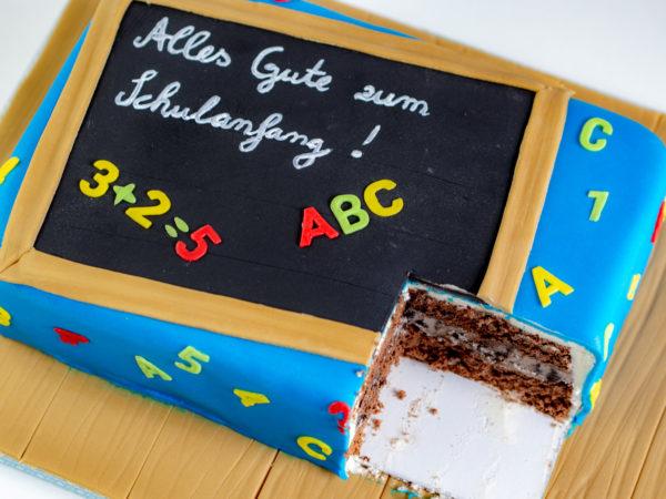 Einschulung Torte Tafel