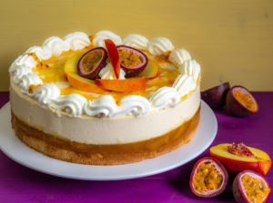 Pfirsich-Maracuja-Torte mit Maracuja-Creme