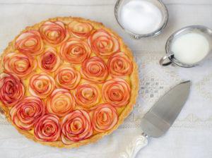 Apfelrosen-Tarte mit Vanilllecreme