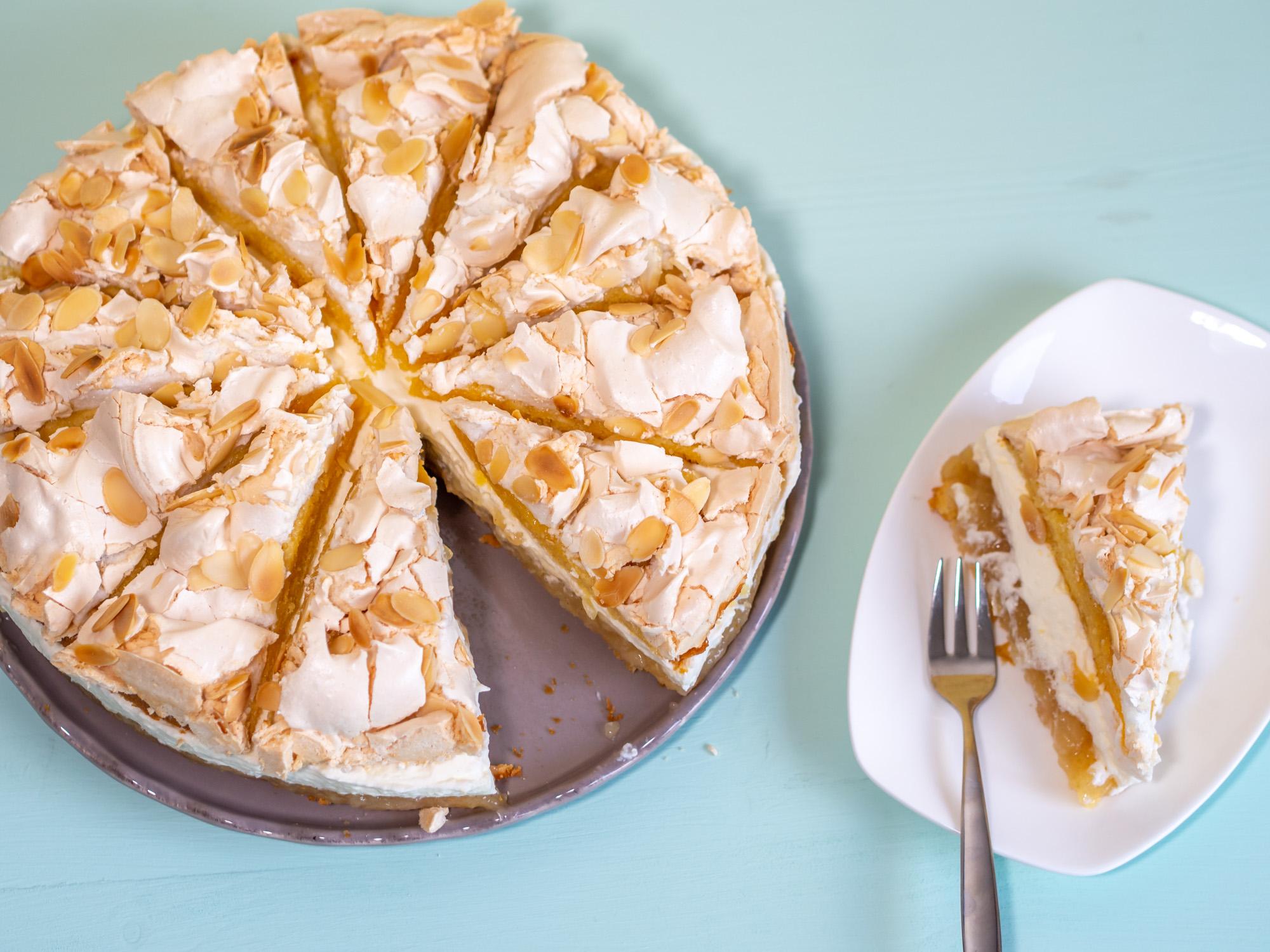 apfelkuchen mit apfelsaft