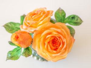 Anleitung für eine Wafer Paper Rose mit Blättern – Wafer Paper Tricks Teil 3 {Video}