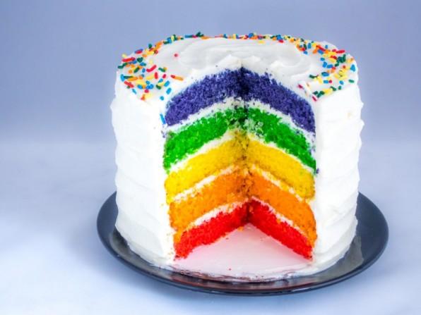 Regenbogenkuchen oder ein Rezept nur für euch