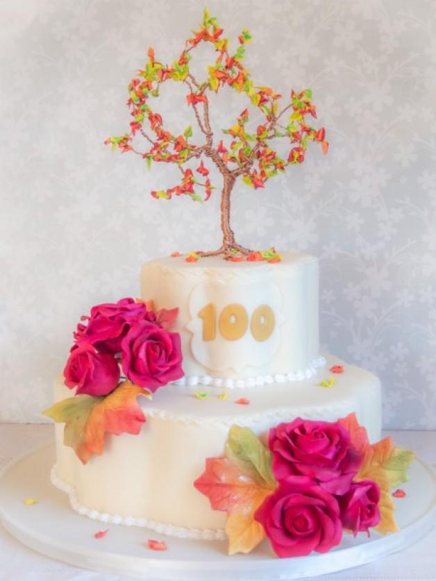 Eine goldene Herbsttorte zum 100. Geburtstag