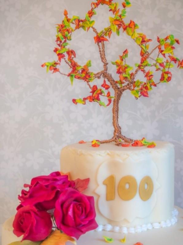 Drahtbaum: herbstlicher Cake Topper mit Royal Icing {Video}