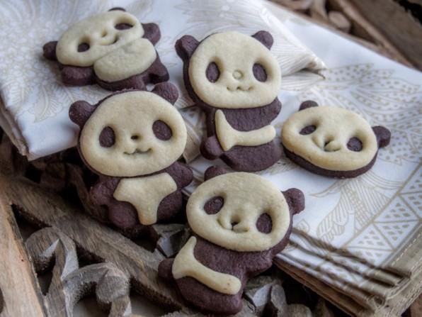 Panda-Plätzchen oder das etwas andere Schwarz-Weiß-Gebäck {Video}
