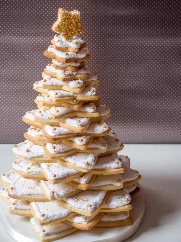 wei er weihnachtsbaum aus pl tzchen ofenkieker