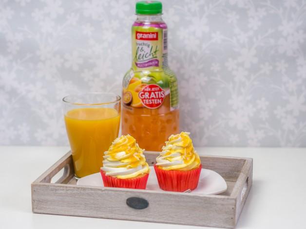 Vanille-Pfirsich-Cupcakes mit Granini {Werbung}
