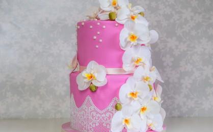 Eine Orchideen-Torte zum Geburtstag