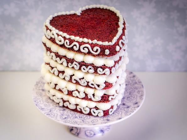 Red Velvet Cake Rezept (dt. roter Samtkuchen)