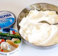 Mascarpone oder Frischkäse