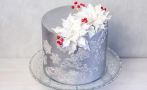 Silberne Torte