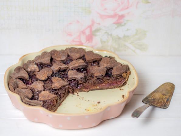 Schoko-Kirsch-Pie oder auch Chocolate Cherry Pie