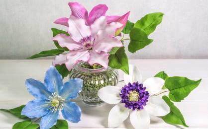 Clematis aus Blütenpaste {Video}**