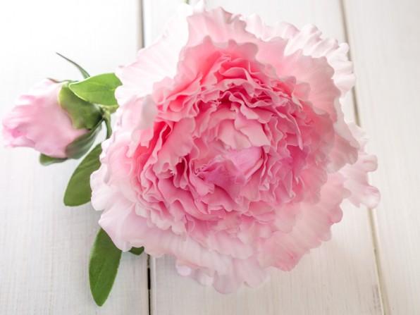 Anleitung für eine einfache Pfingstrose aus Blütenpaste {Video}**