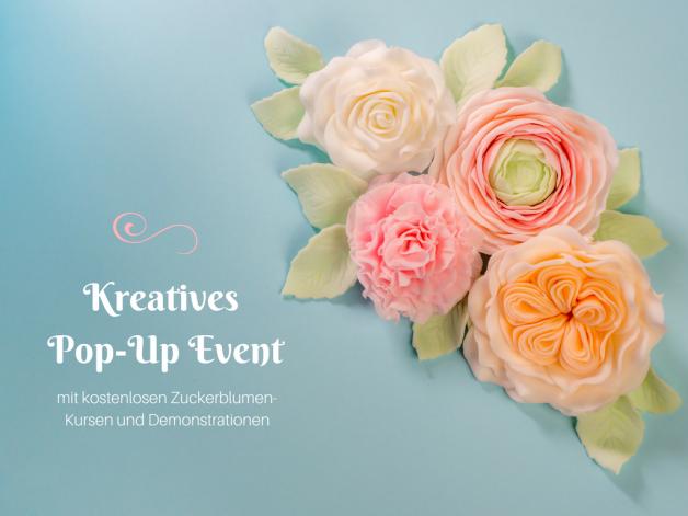 {Werbung} Kostenlose Zuckerblumenkurse beim kreativem Pop-Up Event der Ferratum Bank