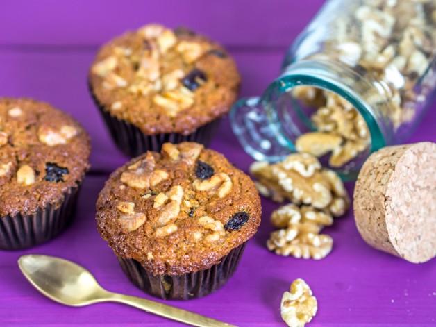 Apfel-Muffins, Walnüsse, Muffin, Cranberries