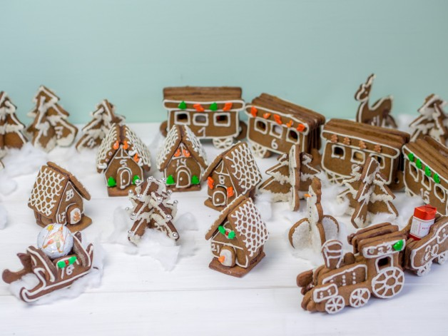 Adventskalender aus Lebkuchen – Lebkuchen-Dorf