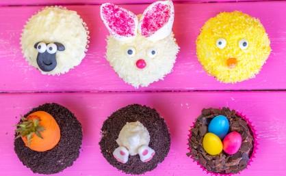 Last Minute Ostercupcakes perfekt zum Dekorieren mit Kindern