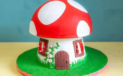 Eine Pilz-Torte für einen Glückpilz